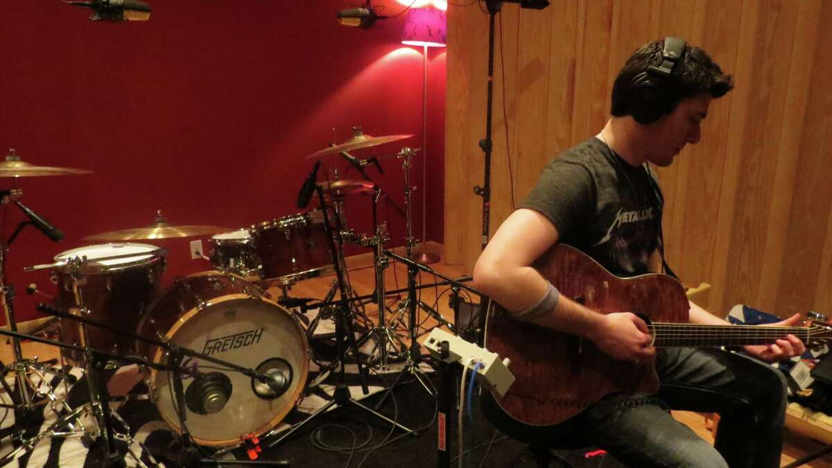 Frank Palangi at work in the Cat Room Recording Studio in Virginia,