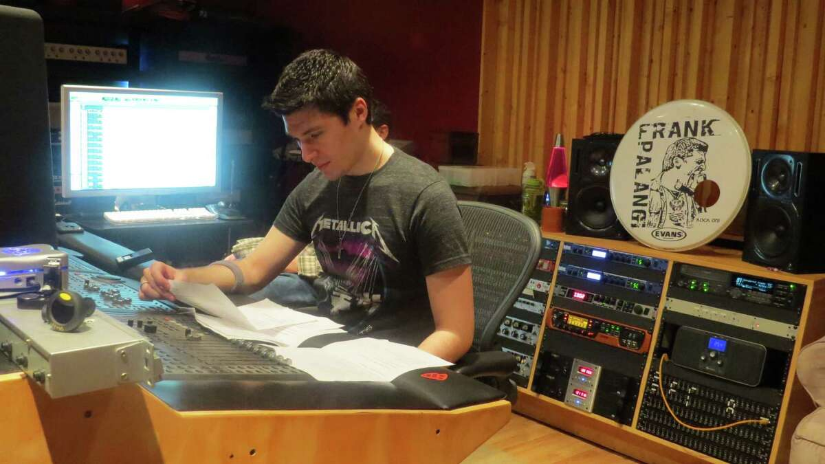Frank Palangi's music at the Cat Room Recording Studio in Virginia,