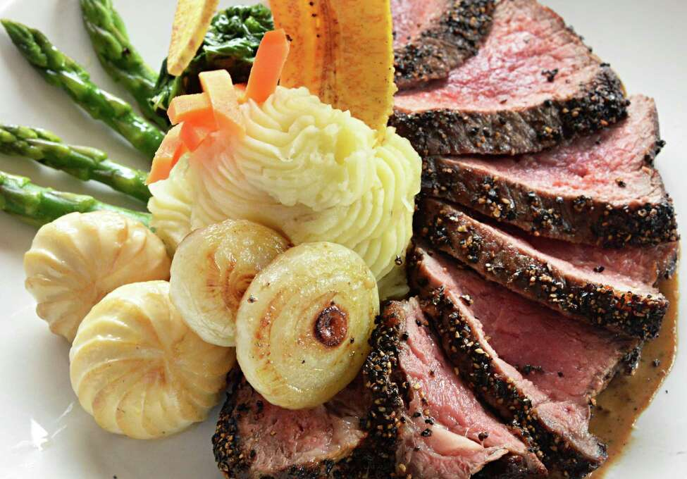 Prime steak au poivre at Jack's Oyster House on State Street Tuesday April 14, 2015 in Albany, NY. (John Carl D'Annibale / Times Union)