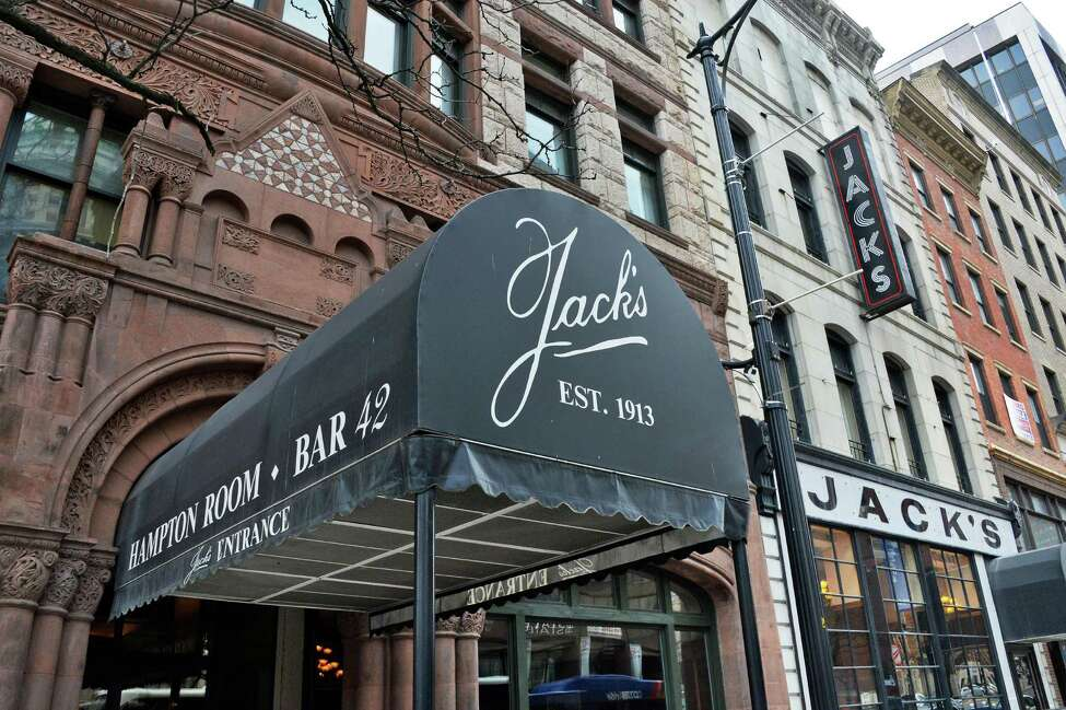 Exterior of historic Jack's Oyster House on State Street Tuesday April 14, 2015 in Albany, NY. (John Carl D'Annibale / Times Union)