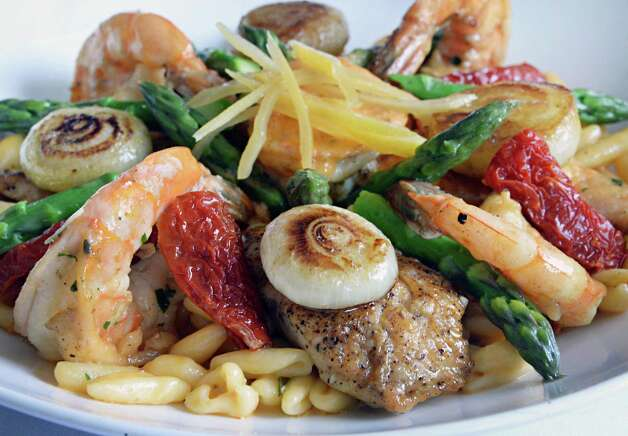 Shrimp and chicken cavatelli at Jack's Oyster House on State Street Tuesday April 14, 2015 in Albany, NY.  (John Carl D'Annibale / Times Union) Photo: John Carl D'Annibale / 00031376A