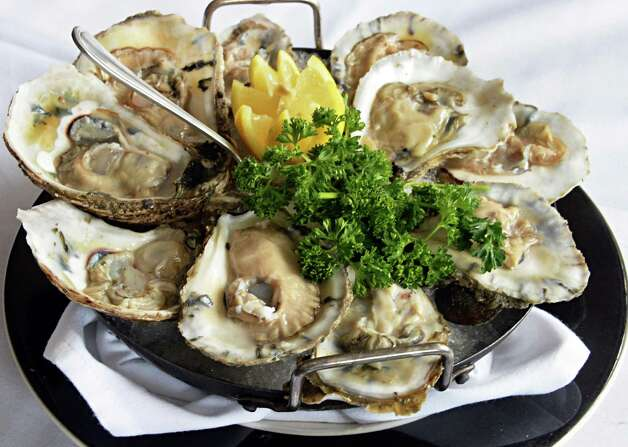 Jack's famous oysters on the half shell at Jack's Oyster House on State Street Tuesday April 14, 2015 in Albany, NY.  (John Carl D'Annibale / Times Union) Photo: John Carl D'Annibale / 00031376A