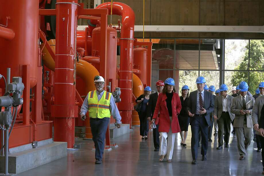 The heat recovery chiller and heat pumps at Stanford's energy facility will be used to supply 75 percent of heating for the entire campus. Photo: Liz Hafalia, The Chronicle