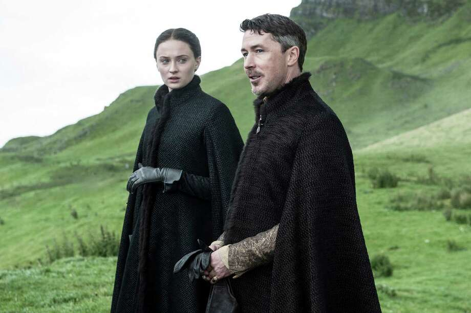 "Sophie Turner and Aidan Gillen in a scene from HBO's ""Game of Thrones,"" which uses Northern Ireland as a prime shooting location. Illustrates Photo: Helen Sloan /HBO / THE WASHINGTON POST"