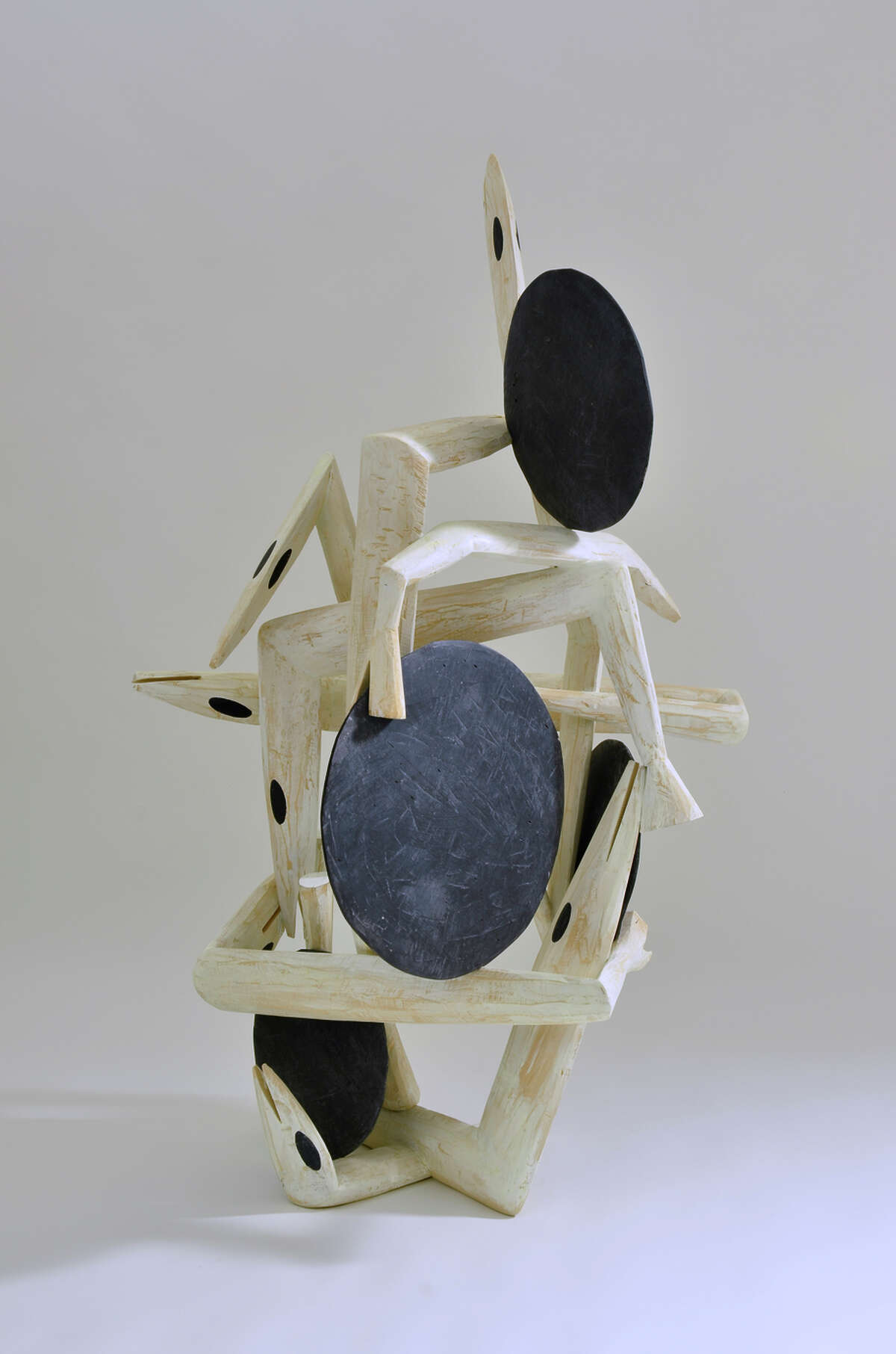 """""""Bode"""" (2015), wood and paint by Robert Brady, is on display at Jack Fischer Gallery."""