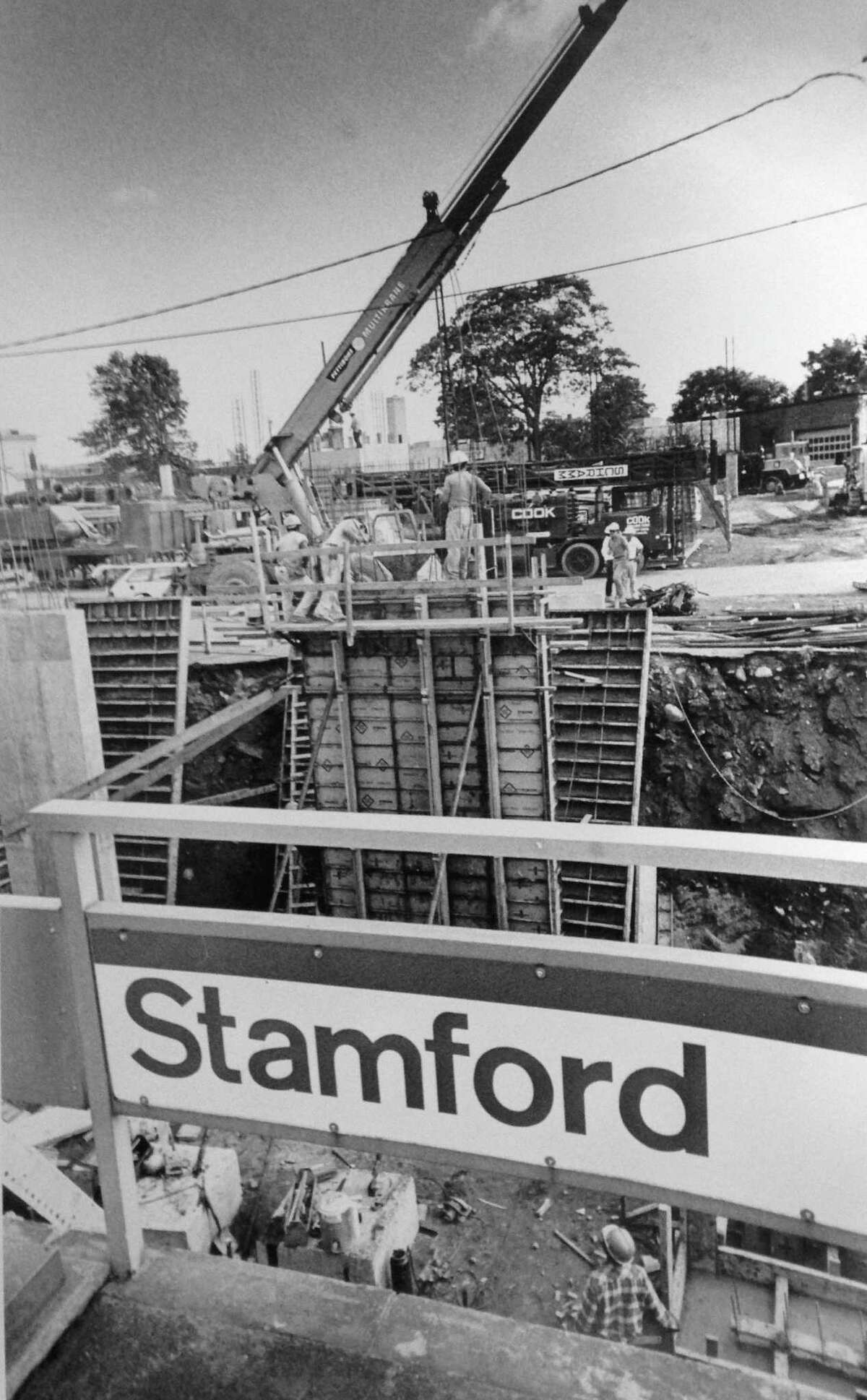 The Stamford train station and parking garage have had structural problems since their initial construction in 1984, when poor quality work caused safety concerns.