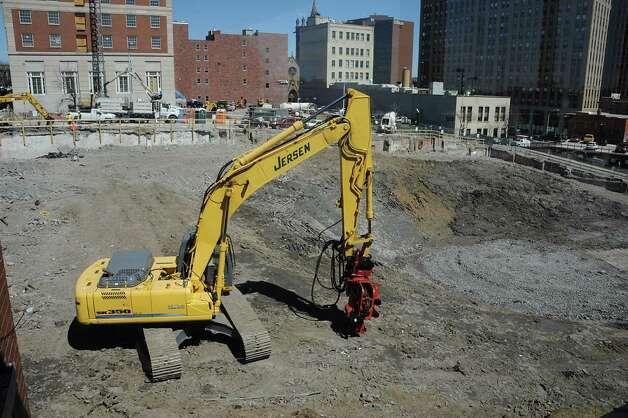 Construction site for the new Capital Center on Wednesday, April15, 2015 in Albany, N.Y. (Lori Van Buren / Times Union) Photo: Lori Van Buren