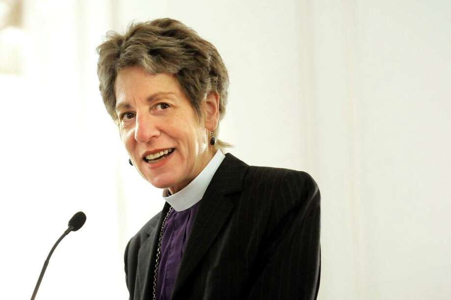 The Most Rev. Katharine Jefferts Schori, Presiding Bishop, addresses members of Province II of the Episcopal Church on Thursday, April 16, 2015, at the Desmond Hotel in Colonie, N.Y. (Cindy Schultz / Times Union) Photo: Cindy Schultz / 00031461A