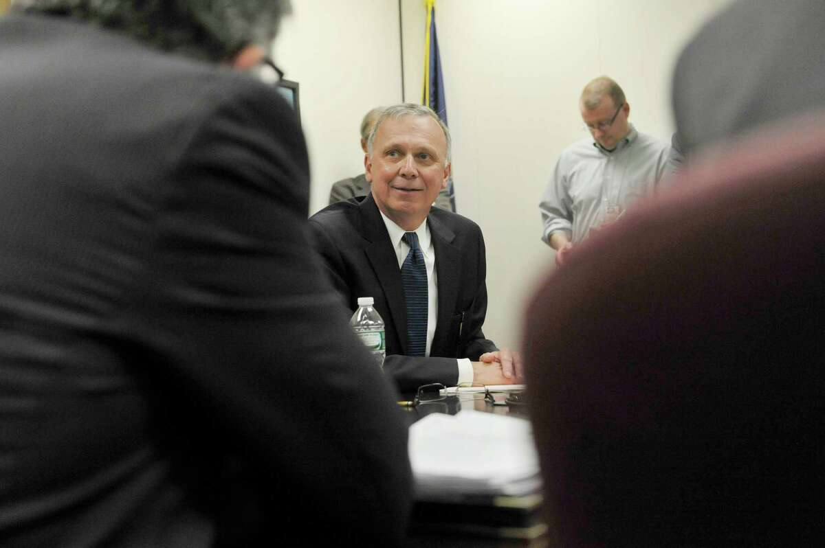 State Board of Elections, GOP co-chair Peter Kosinski takes part in his first meeting on Thursday, April 16, 2015, in Albany, N.Y. (Paul Buckowski / Times Union)