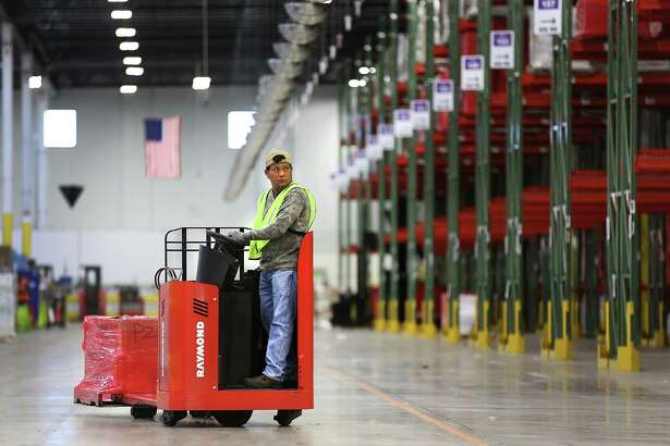 The West Side center will be used to sort packages by ZIP code from Amazon fulfillment centers, such as this one in Schertz.