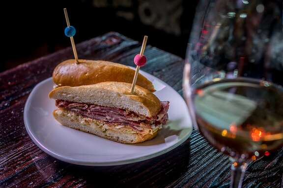 The Brisket Bocadillo at La Taberna in Napa, Calif., is seen on April 16th, 2015.