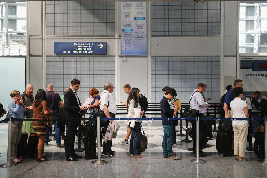 "It might not be the worst thing to remove people who make ""excessive complaints about the screening process"" from the TSA line. At least it will momentarily separate you from your whiny aunt. Photo: Scott Olson, Getty Images"