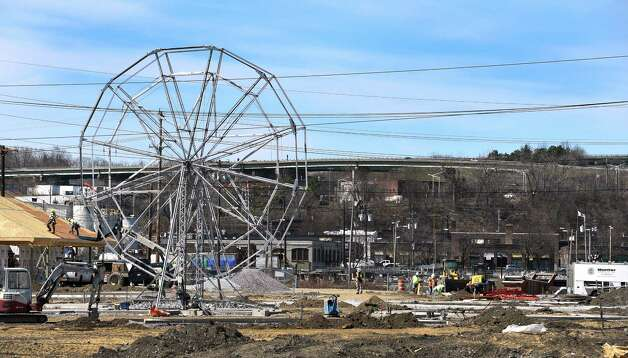 Construction on the new Huck Finn's Hoffman's Playland is in full swing with the nice weather Thursday afternoon April 16, 2015 at the old site on Route 9 in Loudonville, N.Y.       (Skip Dickstein/Times Union) Photo: SKIP DICKSTEIN, ALBANY TIMES UNION