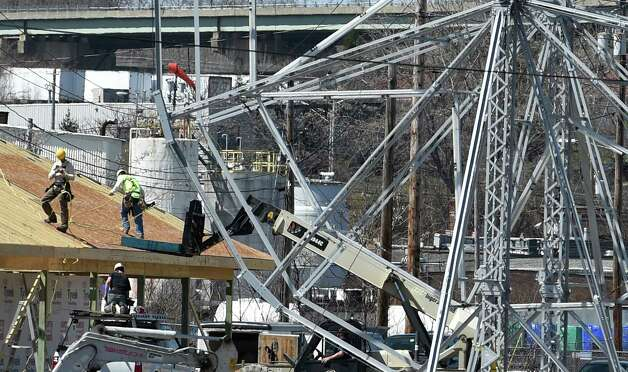 Construction on the new Huck Finn's Hoffman's Playland is in full swing with the good weather Thursday afternoon April 16, 2015, at Huck Finn's in Albany, N.Y. (Skip Dickstein/Times Union) Photo: SKIP DICKSTEIN
