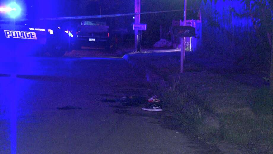 San Antonio Police found a man injured in the street Thursday night on the West Side. Photo: 21 Pro Video