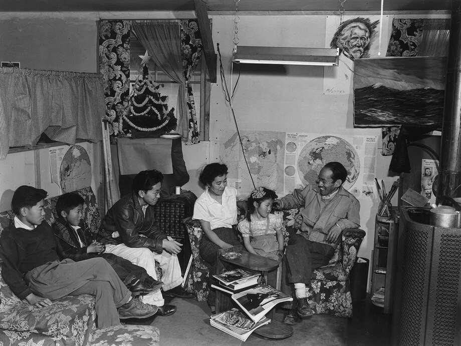 Tōyō Miyatake family, Manzanar Relocation Center, California, 1943. Photo: Ansel Adams/Library Of Congress