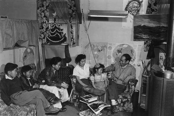 Tōyō Miyatake family, Manzanar Relocation Center, California, 1943.