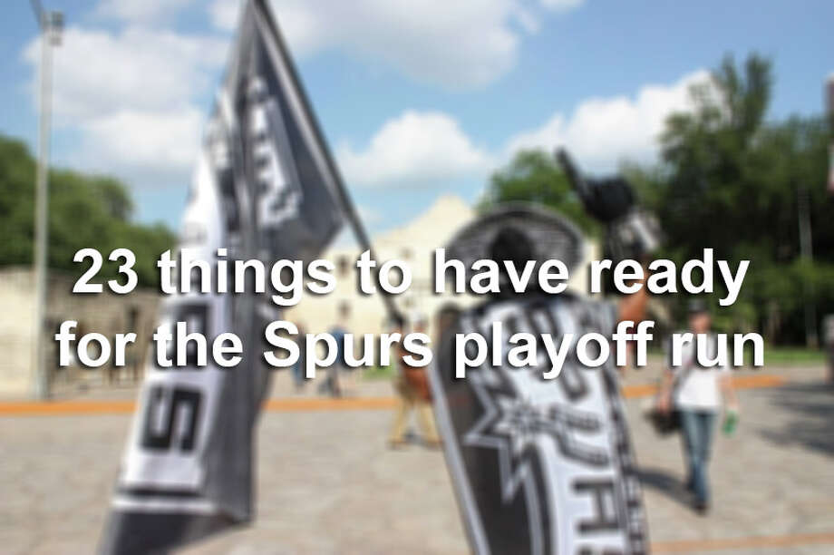 Get ready for another deep playoff run with these 23 must-haves for every Spurs die-hard. Photo: Photo Illustration