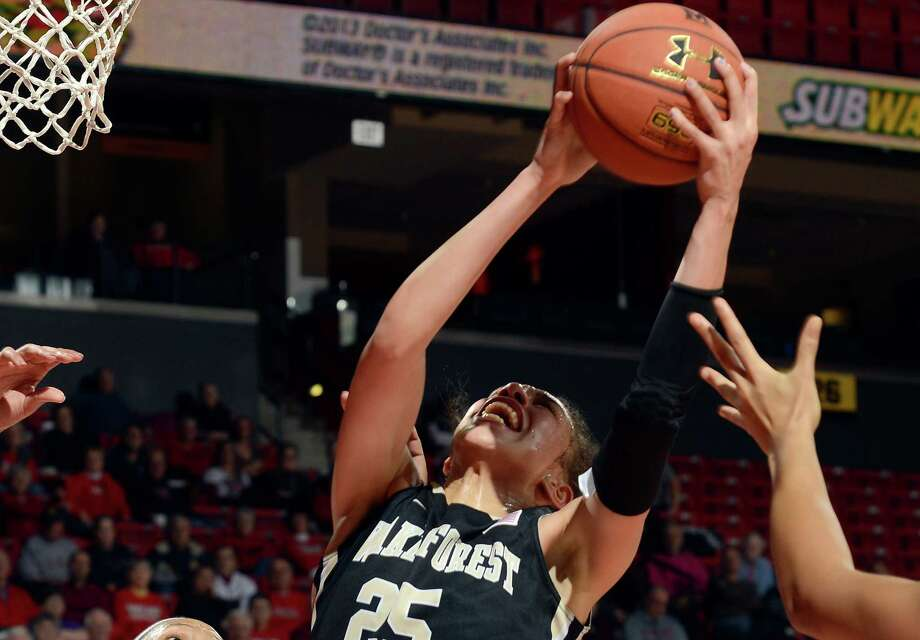 Forward Dearica Hamby is Wake Forest's all-time leader in points and rebounds. She averaged 20.3 points and 10.7 rebounds last season. Photo: G Fiume /Getty Images / 2014 G Fiume