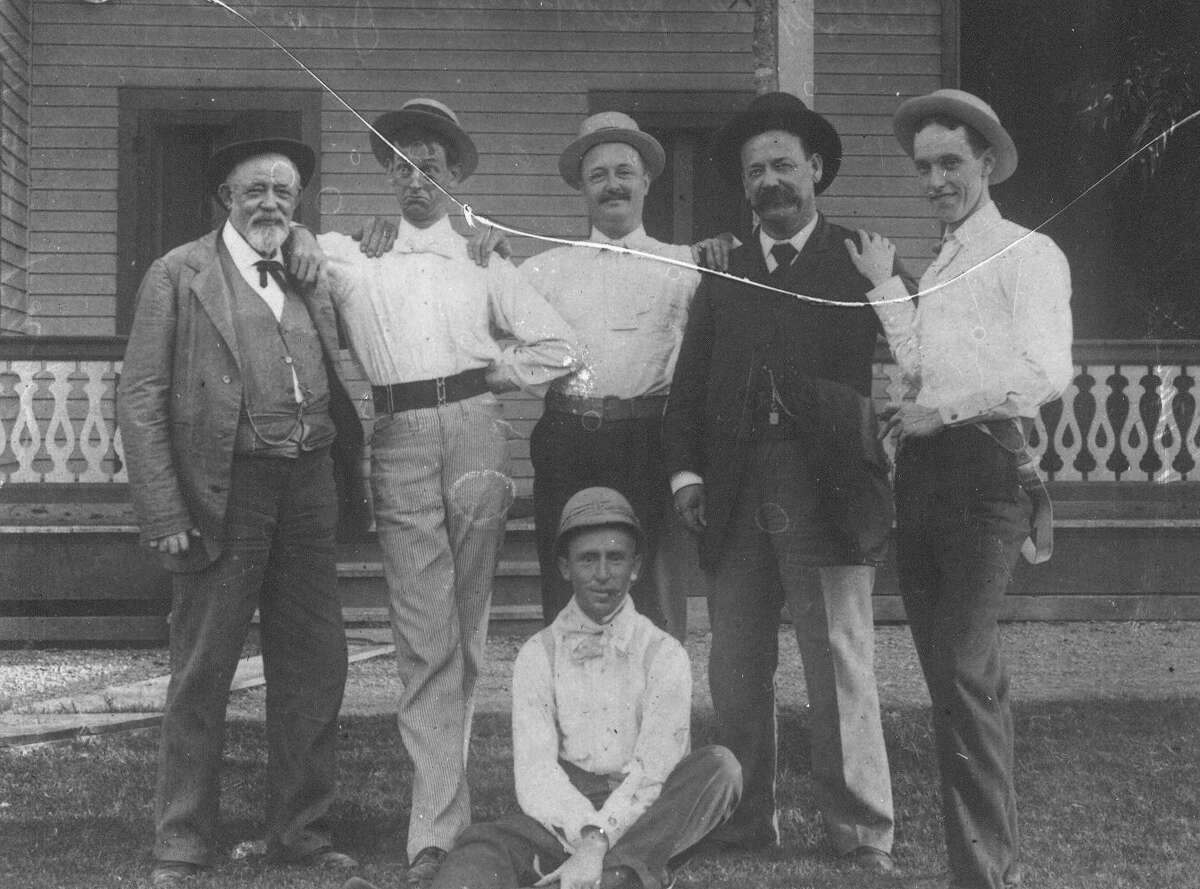 This photo from 1892 shows Mayor Bryan Callaghan (fourth from left) with a group of friends. Callaghan was the most imposing mayor during the time San Antonio operated under a mayor-council form of government.