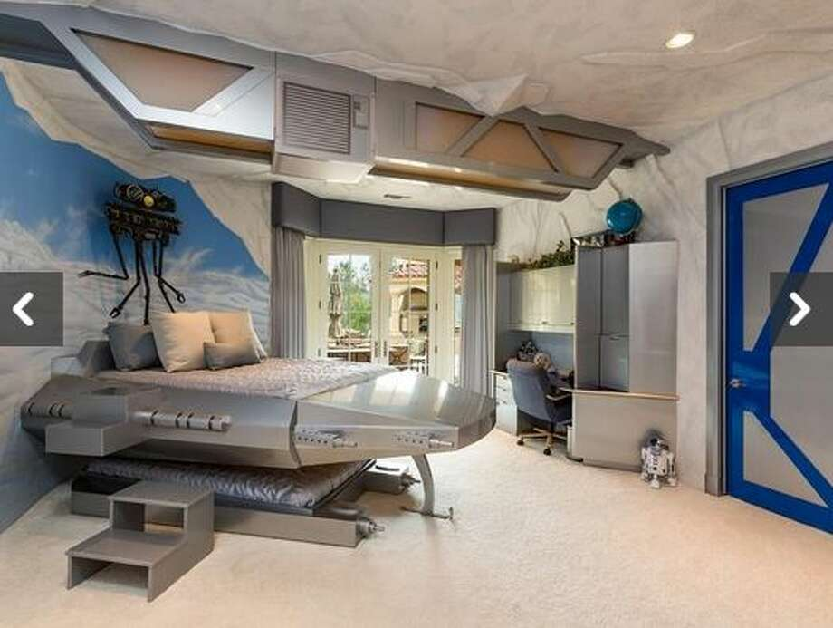 This home, located at 855 Vista Ridge Lane in Westlake Village, California, comes with a Star Wars-themed kids bedroom. The home is listed at $14.9 million. Photo: White,  Tyler L, Courtesy Photo/Ewing & Associates Sotheby's International Realty