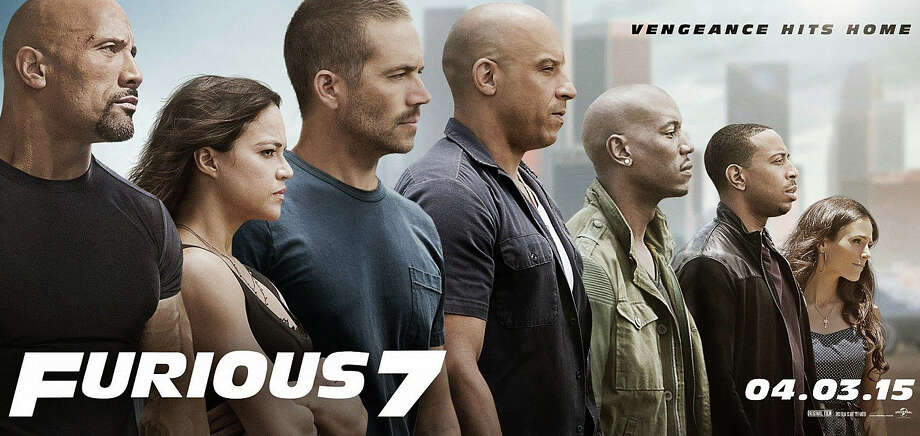 """Furious7"" is the latest installment of the highly profitable movie series -- the first after the death of Paul Walker, one of the stars of the earlier films. Photo: Contributed Photo / Westport News"