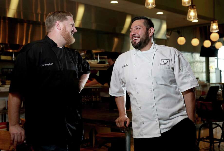 Chefs Randy Evans (consulting chef) and Pablo Gomez (corporate chef) at Local Pour in the new Hughes Landing development  Tuesday, March 24, 2015, in The Woodlands, Texas. ( Gary Coronado / Houston Chronicle ) Photo: Gary Coronado, Staff / © 2015 Houston Chronicle