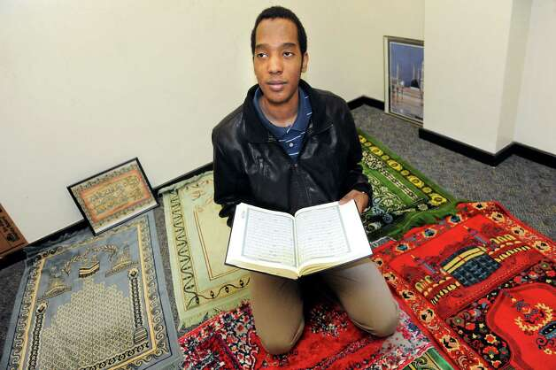 Khalafalla Osmanm 20, president of the Muslim Student Assoc. at UAlbany, in the prayer room on Tuesday, March 24, 2015, at UAlbany in Albany, N.Y. (Cindy Schultz / Times Union) Photo: Cindy Schultz / 00031138A