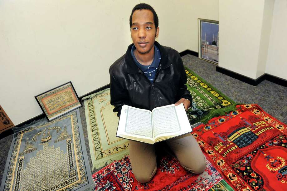 Khalafalla Osman 20, president of the Muslim Student Assoc. at UAlbany, in the prayer room on Tuesday, March 24, 2015, at UAlbany in Albany, N.Y. (Cindy Schultz / Times Union) Photo: Cindy Schultz / 00031138A