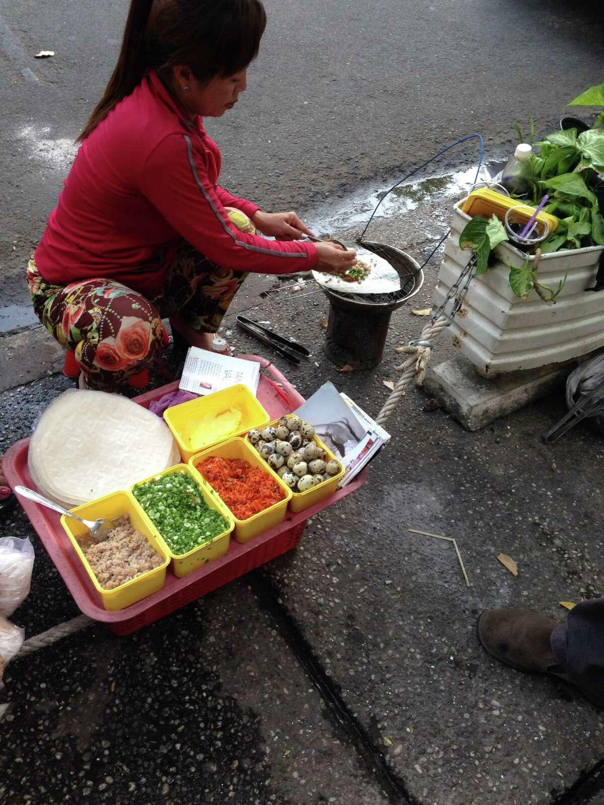 A street food vendor in Ho Chi Minh City, Vietnam
