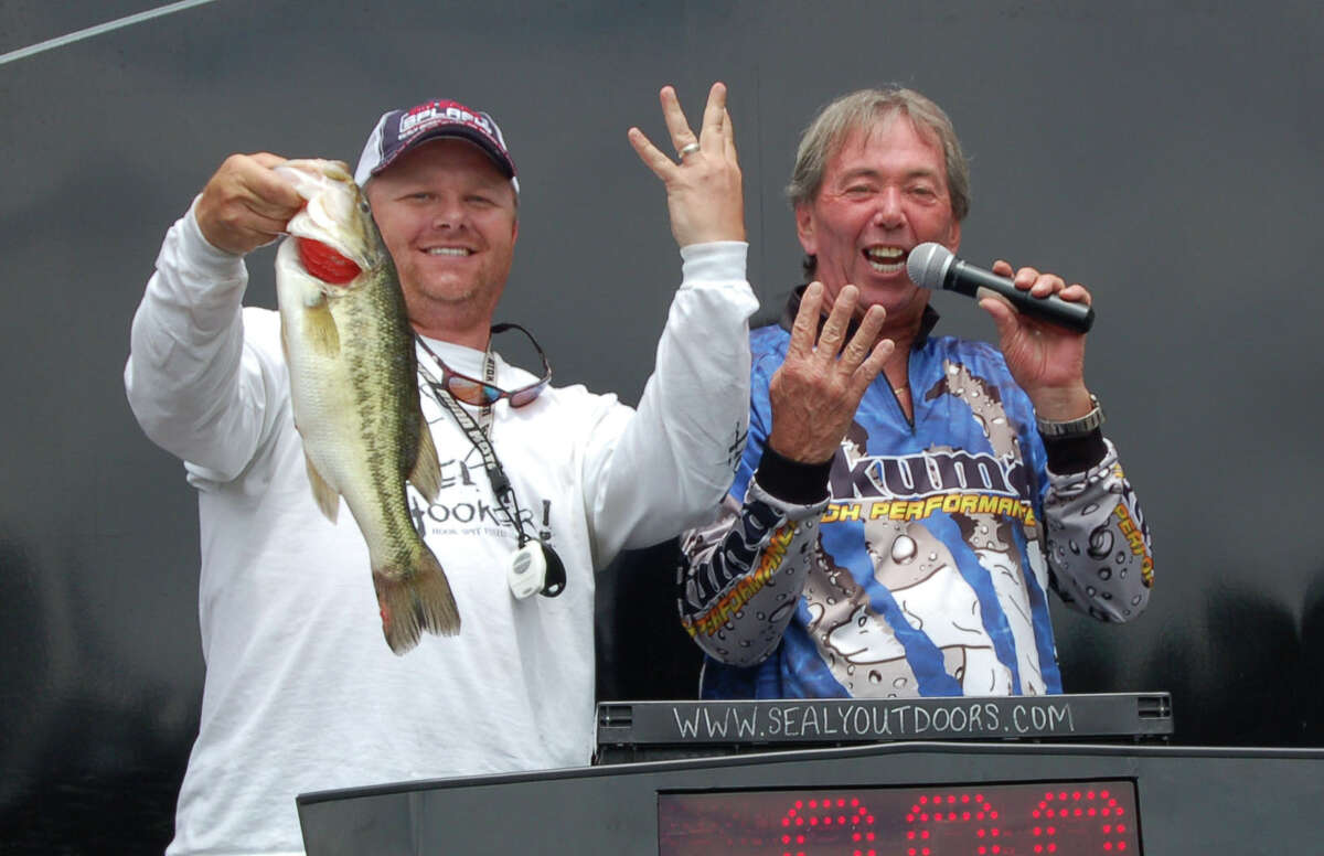 Jeremy Morton of Friendswood, TX enjoyed a $5,000 bonus for his fish locking the scales at 4.00 lbs on day 1