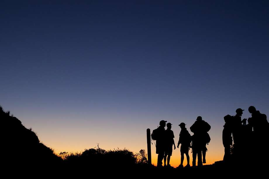 Night hiking in in the Marin Headland in 2011. Photo: Beck Diefenbach