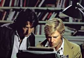 """Dustin Hoffman and Robert Redford as reporters in """"All the President's Men"""""""