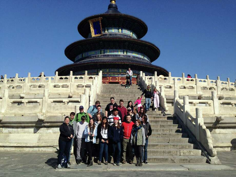 Tech Vallet students visit theTemple of Heaven in Beijing during their April visit. (Submitted photo)