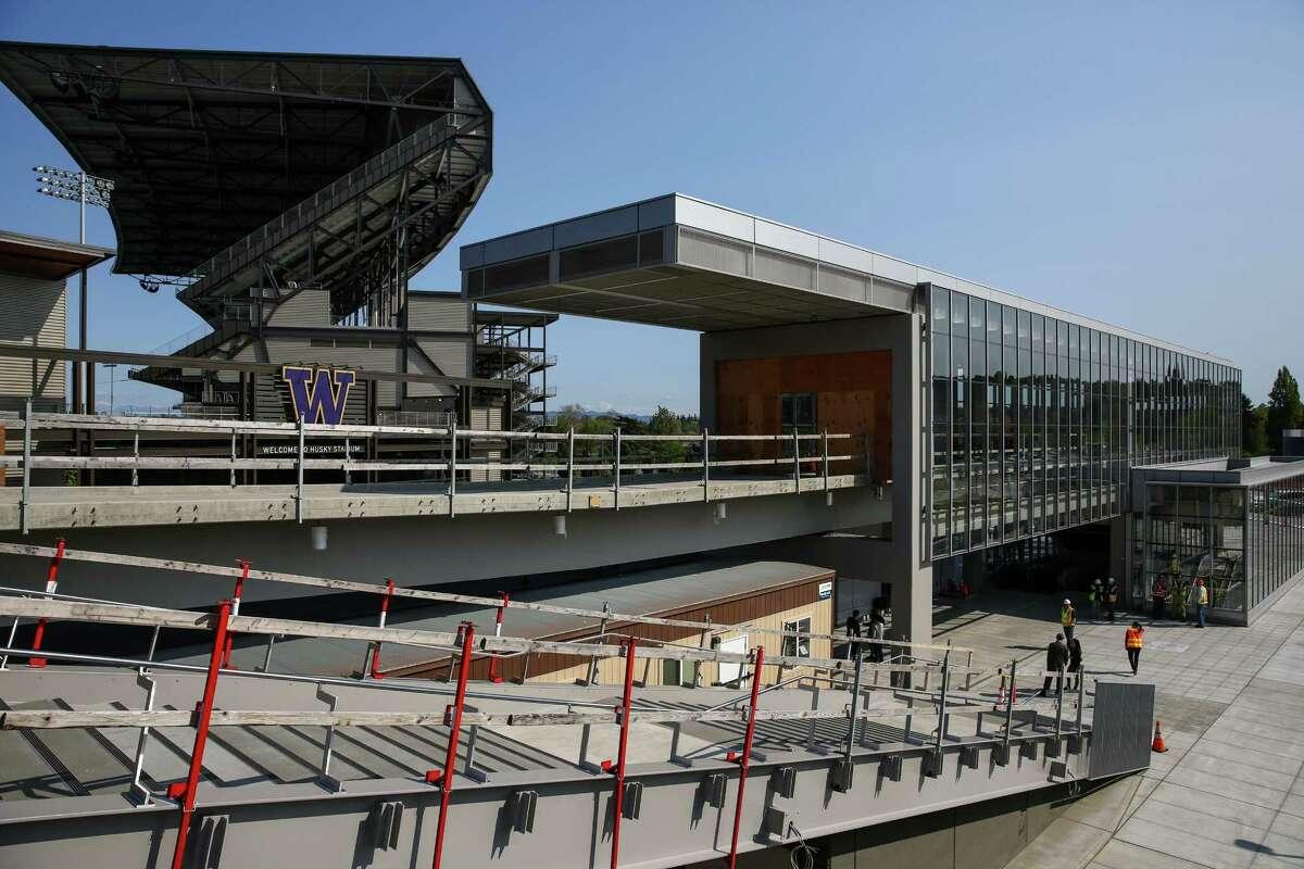 Sound Transit's acclaimed, popular University of Washington Station is shown on Friday, April 17, 2015.