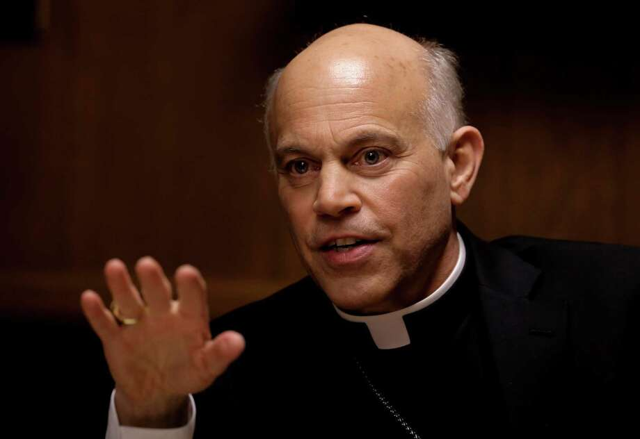 """San Francisco Archbishop Salvatore Cordileone meets with the Chronicle's editorial board on Tues. February 24, 2015. Cordileone is a leading conservative """"culture warrior"""" among the nation's Catholic Church leaders. Photo: Michael Macor / The Chronicle / ONLINE_YES"""