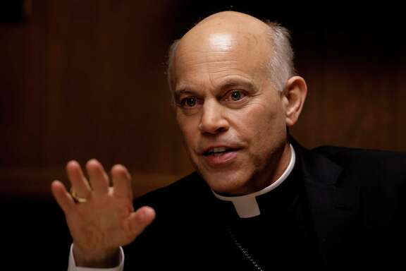 "San Francisco Archbishop Salvatore Cordileone meets with the Chronicle's editorial board on Tues. February 24, 2015. Cordileone is a leading conservative ""culture warrior"" among the nation's Catholic Church leaders."