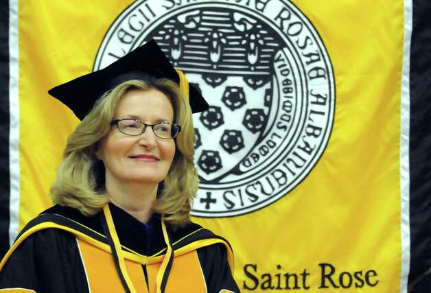 Carolyn J. Stefanco was officially inaugurated as 11th president of The College of Saint Rose on Friday April 17, 2015 in Albany, N.Y. (Michael P. Farrell/Times Union) Photo: Michael P. Farrell / 00031378A