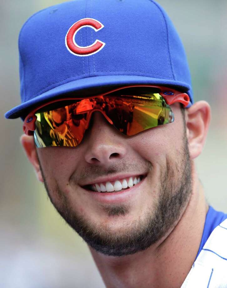 Chicago Cubs' Kris Bryant smiles as he signs autographs before a baseball game against the San Diego Padres in Chicago, Friday, April 17, 2015. (AP Photo/Nam Y. Huh) ORG XMIT: CXC112 Photo: Nam Y. Huh / AP