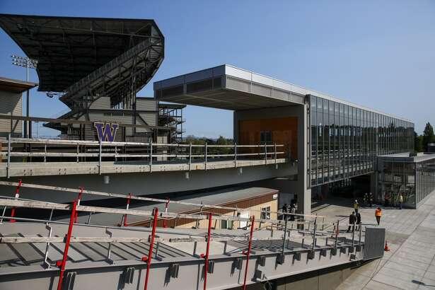 Sound Transit's nearly completed University of Washington Station is shown on Friday, April 17, 2015. (Joshua Trujillo, seattlepi.com)