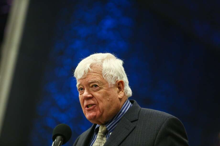 Congressman Jim McDermott, pictured above in a file photo, armed himself with a shovel after an irate Bernie Sanders supporter who had threatened to cut out his tongue arrived at his Seattle office. (Joshua Trujillo, seattlepi.com) Photo: SEATTLEPI.COM