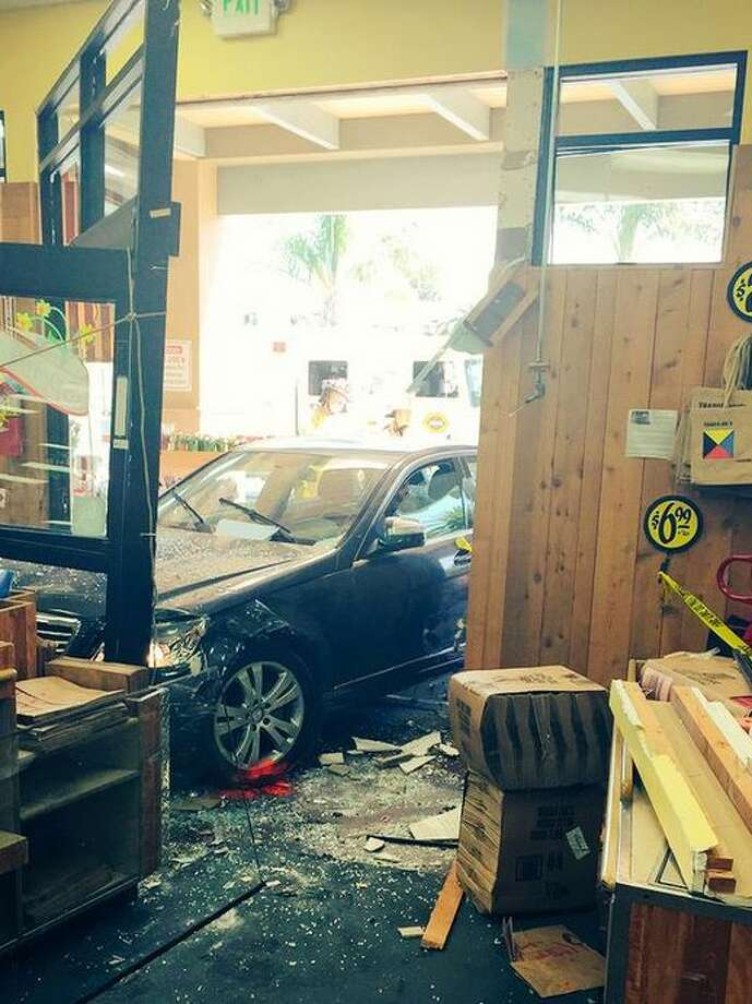 A 75-year-old woman drove rammed through the front of a Trader Joe's store in Los Altos on Friday April 17, 2015, injuring six. Photo: Courtesy / Santa Clara County Fire / ONLINE_YES