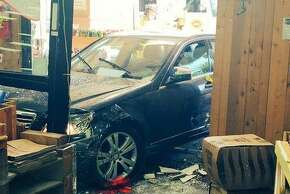 A 75-year-old woman drove rammed through the front of a Trader Joe's store in Los Altos on Friday April 17, 2015, injuring six.