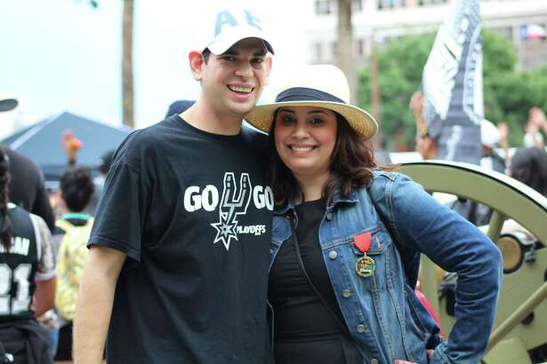 The Spurs will take on the Clippers on Sunday for the first game of their 18th consecutive playoff run. To amp Spurs fans up more than they already are, the Spurs hosted a Block Party Friday afternoon.