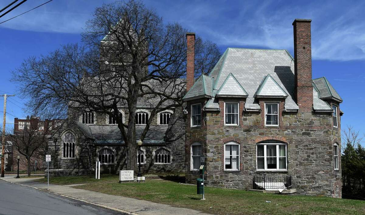Exterior view of the Cohoes Library Tuesday morning April 14, 2015 in Cohoes, N.Y. (Skip Dickstein/Times Union)