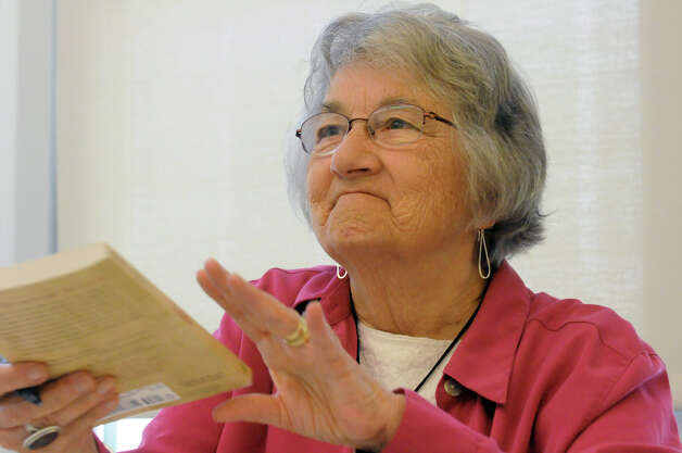 Katherine Paterson, author of Bridge to Terabithia, signs books as part of Authors & Illustrators Day at Giffen Memorial Elementary School on Saturday April 18, 2015 in Albany, N.Y. (Michael P. Farrell/Times Union) Photo: Michael P. Farrell / 00031491A