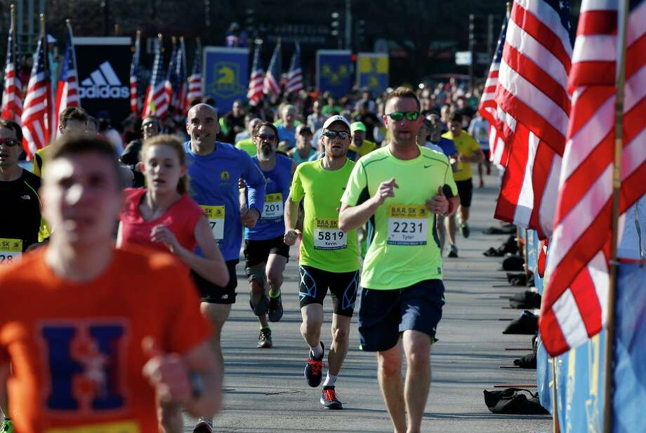Saturday's Boston Marahon 5k had a distinct patriotic feel. Photo: Michael Dwyer / Associated Press / AP