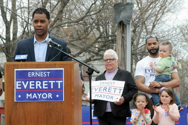 Ernest Everett announces he will run for the office of Troy mayor at Powers Park on Saturday April 18, 2015 in Troy, N.Y. (Michael P. Farrell/Times Union) Photo: Michael P. Farrell / 00031475A