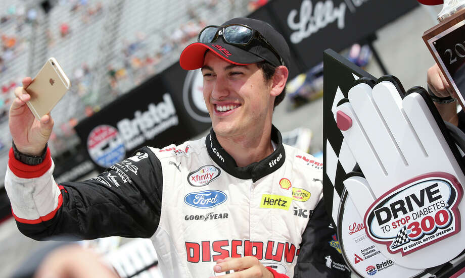 Joey Logano won his second Xfinity Series race in only his third start of the season Saturday at Bristol Motor Speedway. Photo: Sean Gardner / Getty Images / 2015 Getty Images