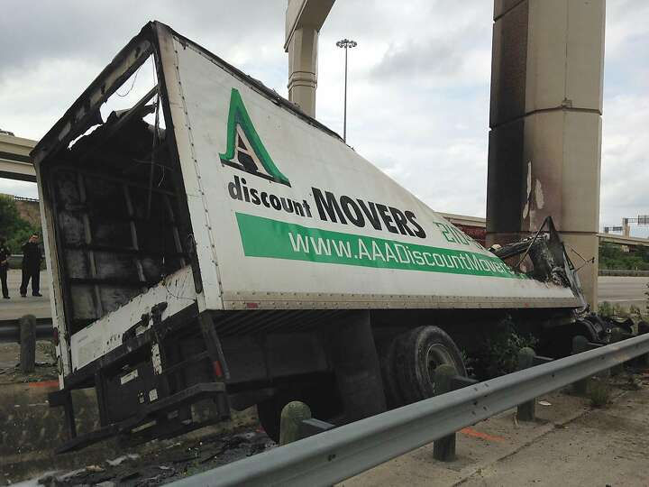 According to San Antonio police, a delivery truck was headed eastbound on Loop 410 when the driver l